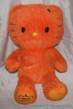 "Retired Limited Edition BUILD A BEAR Plush Big 18"" HALLOWEEN ORANGE HELLO KITTY"