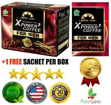 PureGano XPower Coffee Latte For Men Male Enhancement 1 Box + 1 FREE Sample