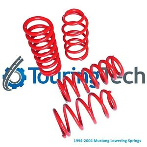 """Touring Tech Performance Lowering Springs 79-04 Mustang 1.6""""F/2.0""""R"""