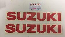 Adesivo coppia scritta SUZUKI rossa Grande  - Sticker