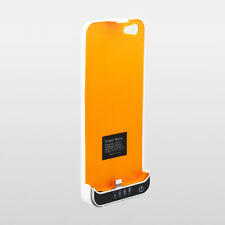 NINETEC Power Case für iPhone 5S 5C 5 Cover mit Backup Akku 2.600mAh White