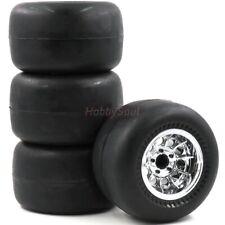 4pc RC 2.2 slick Tire Street Tyre 108mm & 2.2 Truck Wheel For 1/10 Crawler Truck