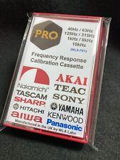 Frequency Response Calibration Cassette 40Hz 63Hz 125Hz 315Hz 1kHz 8kHz 10kHz