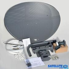 Freesat / Sky 80cm zone 2 satellite dish & quad lnb + 5m Twin White install kit
