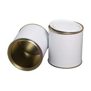 Empty Lacquered  Lever Lid Paint Tins For Left Over Water-Based Paint / 500 ml