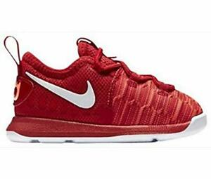Nike Toddler KD 9 Red/White Sz 10 855910-611 Basketball Shoes