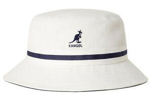 Kangol Mens Lahinch Stripe Off White Bucket Hat K4012SP