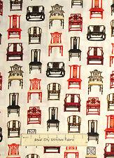 Asian Inspired Chairs Cotton Fabric Robert Kaufman Asian Traditions YARD
