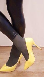 Gelbe Pleaser High Heels Pumps mit 12 cm Absatz, Übergröße Gr. 43 bis 44