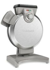 New Cuisinart Vertical Belgium Waffle Maker Brushed Steel Non-Stick Round Waffle
