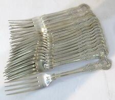 "Sterling Silver Antique English Kings Pattern Dessert/Salad Forks. 7.2"". G Adams"