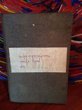 vintage  antique MILITARPASS BOOKLET - first entry 1906, last entry 1914 - rare