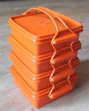 Tupperware Vintage - 4 boîtes favorites avec anse / Boîtes casse-croûte, goûter