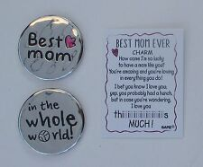 d 1x BEST MOM in the whole world EVER Pocket token charm Ganz