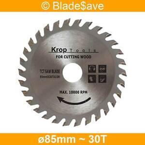 Triton Circular Saw Blade Fine Cut TCT 85mm x 15mm x 30T by KROP (2 Pack)