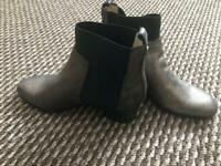Jimmy Choo Flat Ankle Boots Silver Brand New with Dust Bag Size 35.5 uk 3.5