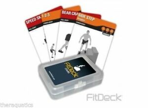 FITDECK STAIRS Exercise Cards Warm Up Cardio Lower Body Footwork Stretches new