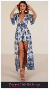 """Showpo """"Defeater"""" Maxi Romper Playsuit Dress Size 10 Brand New With Tags"""