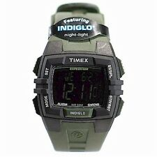Timex Men's 49903 Expedition Black/Green Chronograph Digital Indiglo Night Watch
