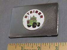 Vintage Steiger 4WD Tractor Equipment Tractor Enameled Belt Buckle NEAT!