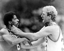1984 Boston Celtics LARRY BIRD choking 76ers JULIUS ERVING Glossy 8x10 Photo