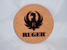 """Ruger Drink Coasters Set of 4 - CORK 4"""", beer, beverage,guns"""