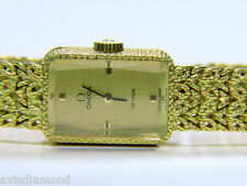 "█ VIDEO ESTATE 18KT WORKING OMEGA ""DE VILLE"" LADIES GOLD WATCH  █"