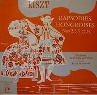 HANS SWAROWSKY rapsodies hongroises 2,3,9,14 LISZT LP++