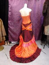 MeProm Corset Gown GYPSY Wedding Flamenco Boho w/TRAIN Bridesmaid szS-M