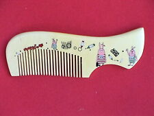 """4.8"""" """"THE BEST"""" NATURAL WOOD COMB - CUTE! FOR KIDS! COMBINE SHIPPING"""