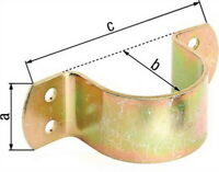 Rohrschelle 25x32x107mm/f.Rohr:Ø31,8mm=Ø1 1/4Zoll Stahl roh galv. gelb verz. GAH