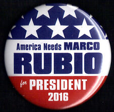 "2016 Marco Rubio 2-1/4"" / (R)Presidential Hopeful Campaign Button (Pin 01)"