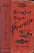 Gebruder Senfs Illustrierter Postwertzeichen Katalog, 1923, 1160 pps