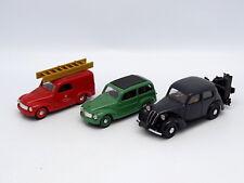 Brumm SB 1/43 - Set of 3 Fiat 500C 1100 Don't Firefighters Gasifier