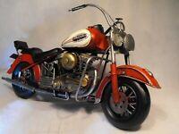 TINPLATE MOTORBIKE RETRO VINTAGE LARGE SIZE CHOPPER MODEL MOTORBIKE MOTORCYCLE