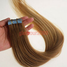 20PCS PU Seamless Skin Tape in Remy Real Human Ombre Hair Extensions #T12/20