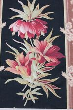 """Antique French Home Printed Botanical Cotton Fabric c1880~1yd6""""L X 31 1/2""""W"""