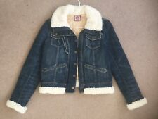 JUICY COUTURE Denim Jean Jacket And Faux Shearling Zip Up And Button NWOT Size M
