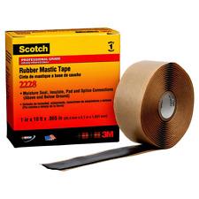 Scotch® Rubber Mastic Tape 2228, 1 in x 10 ft, Black