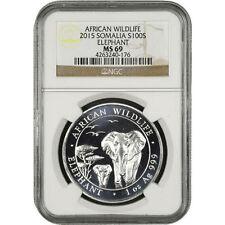 2015 1 oz Somalian Silver Elephant Coin NGC MS69