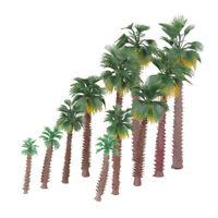 12x Mini Model Train Palm Trees Forest Beach Scenery Layout HO OO N Scale 6-20cm