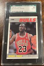 1987 FLEER BASKETBALL #59 MICHAEL JORDAN SGC 92 8.5 NM MINT PLUS SHARP CORNERS ~