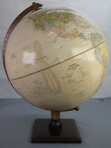 """Replogle 12"""" Vintage Political Globe World Classic Relief Geographical Learning"""