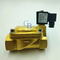 """DC12V G1-1/2"""" Brass Electric Solenoid Valve 232 psi Normally Closed Air Water"""