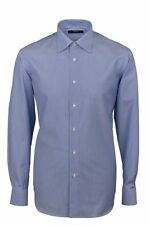 Camicia Ingram Regular Fit Azzurro mille righe Cotone No Stiro Taglia 46 XXL