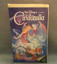 RARE 410  DISNEY CINDERELLA BLACK DIAMOND CLASSIC ORIGINAL VHS TAPE 1988