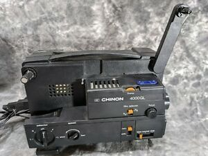 Vintage CHINON 4000GL 8mm and Super 8 Reel Adjustable Speed Projector