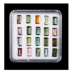 20 Pcs Natural Tourmaline 5.7mm-6.1mm Baguette Top Quality Untreated Gemstones