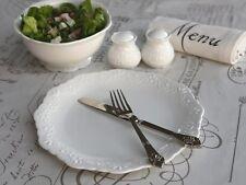 Chic Antique Provence Speiseteller Porzellan weiß vintage und shabby
