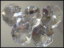 Crystal Octagon A-Grade 14mm 1 Hole Clear x 100 BULK - suncatcher octagons SALE